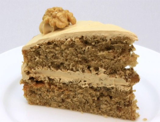 Recipe – Dairy Free Coffee, Walnut and Banana Cake